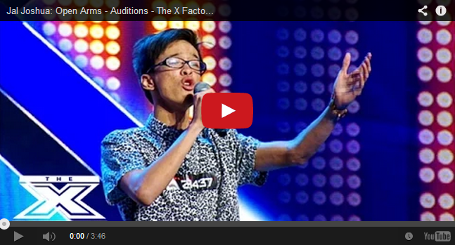 Pinoy named  Jal Joshua performed 'Open Arms' Got Standing Ovation at X-Factor Australia
