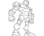#6 Cyborg Coloring Page