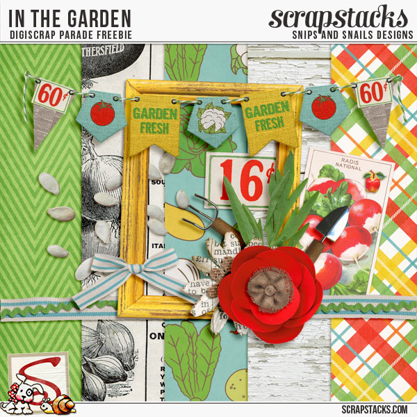 In the Garden by Snips and Snails Designs