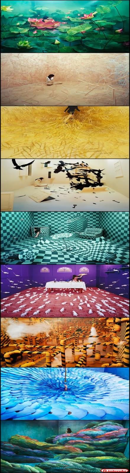 Confira este artista que transforma quartos em lindos cenarios, sem Photoshop