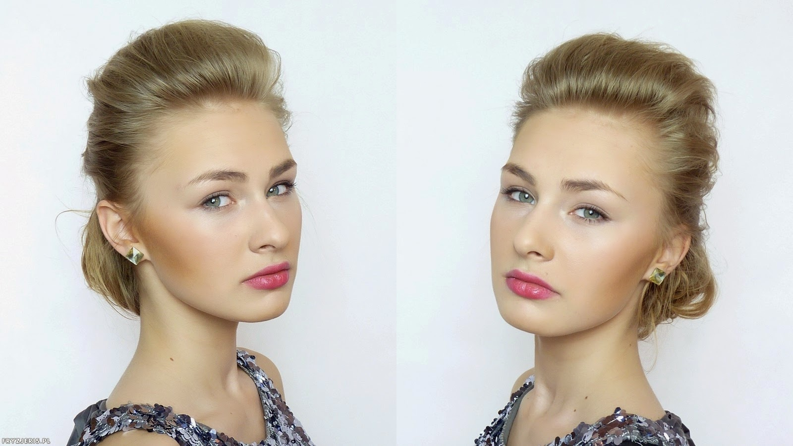 fryzura ślubna odsłaniająca twarz 1