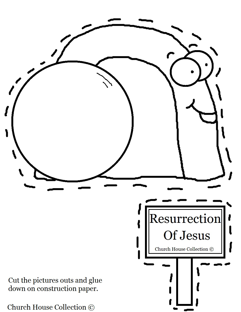 Church House Collection Blog: Easter Tomb Crafts- Tomb Cut Out Sheet ...