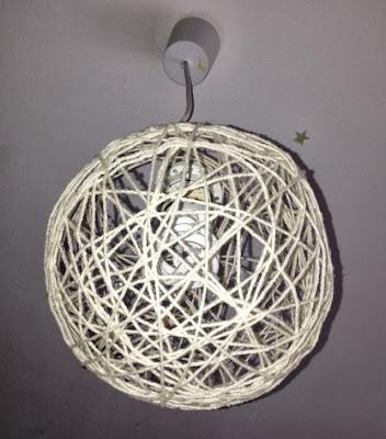 suspension luminaire en laine facile à réaliser, étudiant