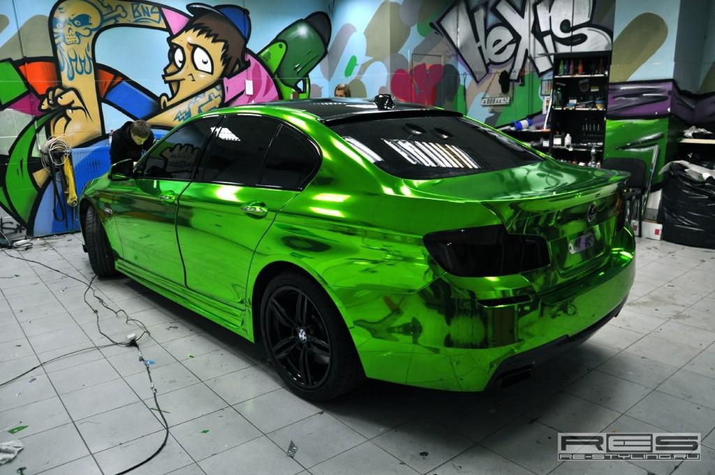 Green Chrome Car Wrap Www Imgkid Com The Image Kid Has It