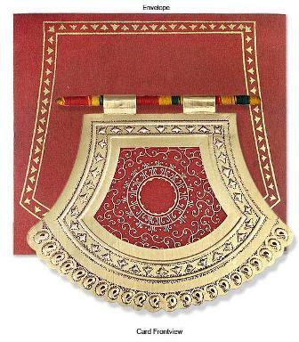 Royal Fan Indian Wedding Card