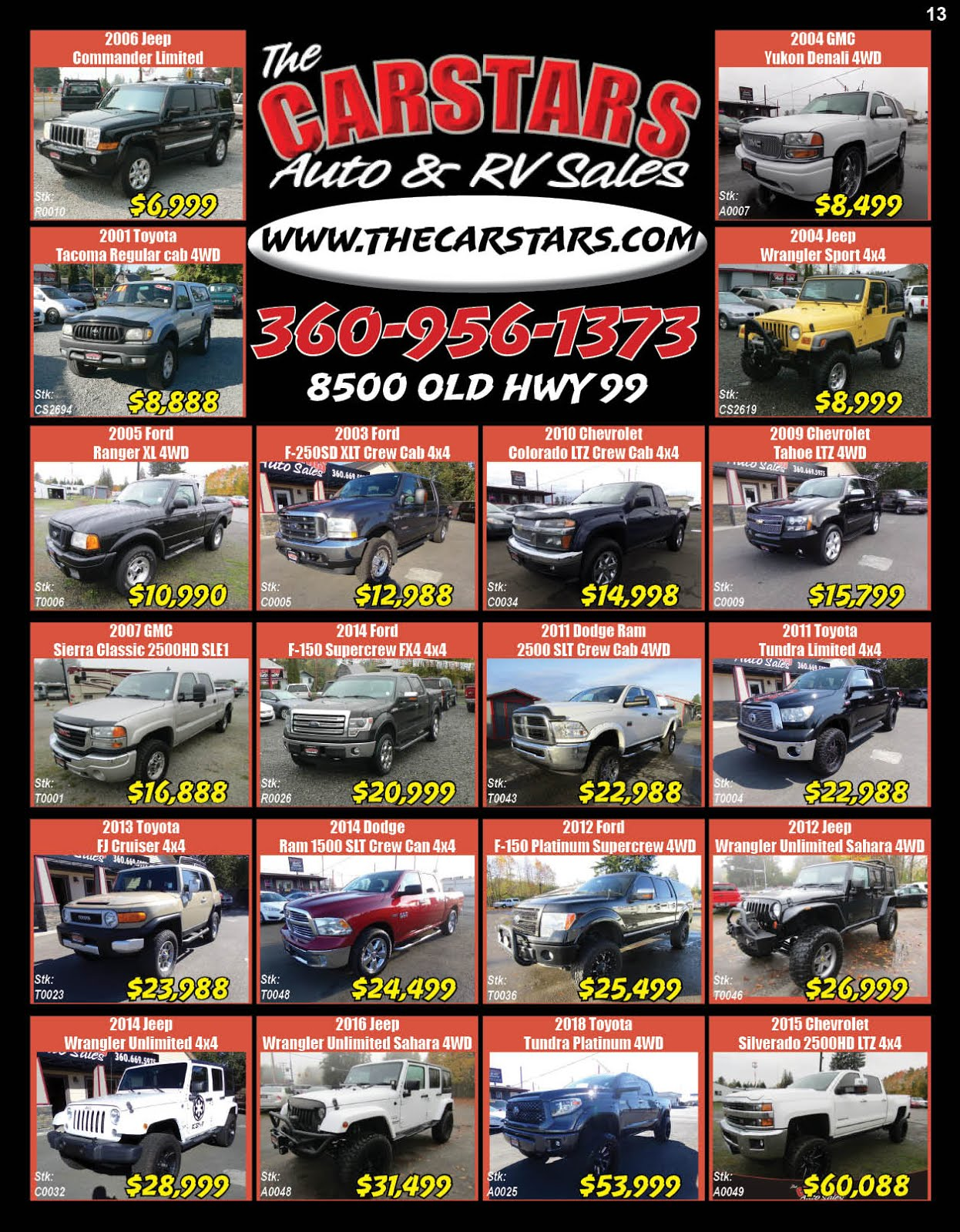 The CARSTARS Auto & RV Sales