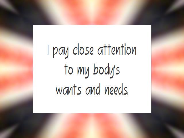 HEALTHY BODY affirmation