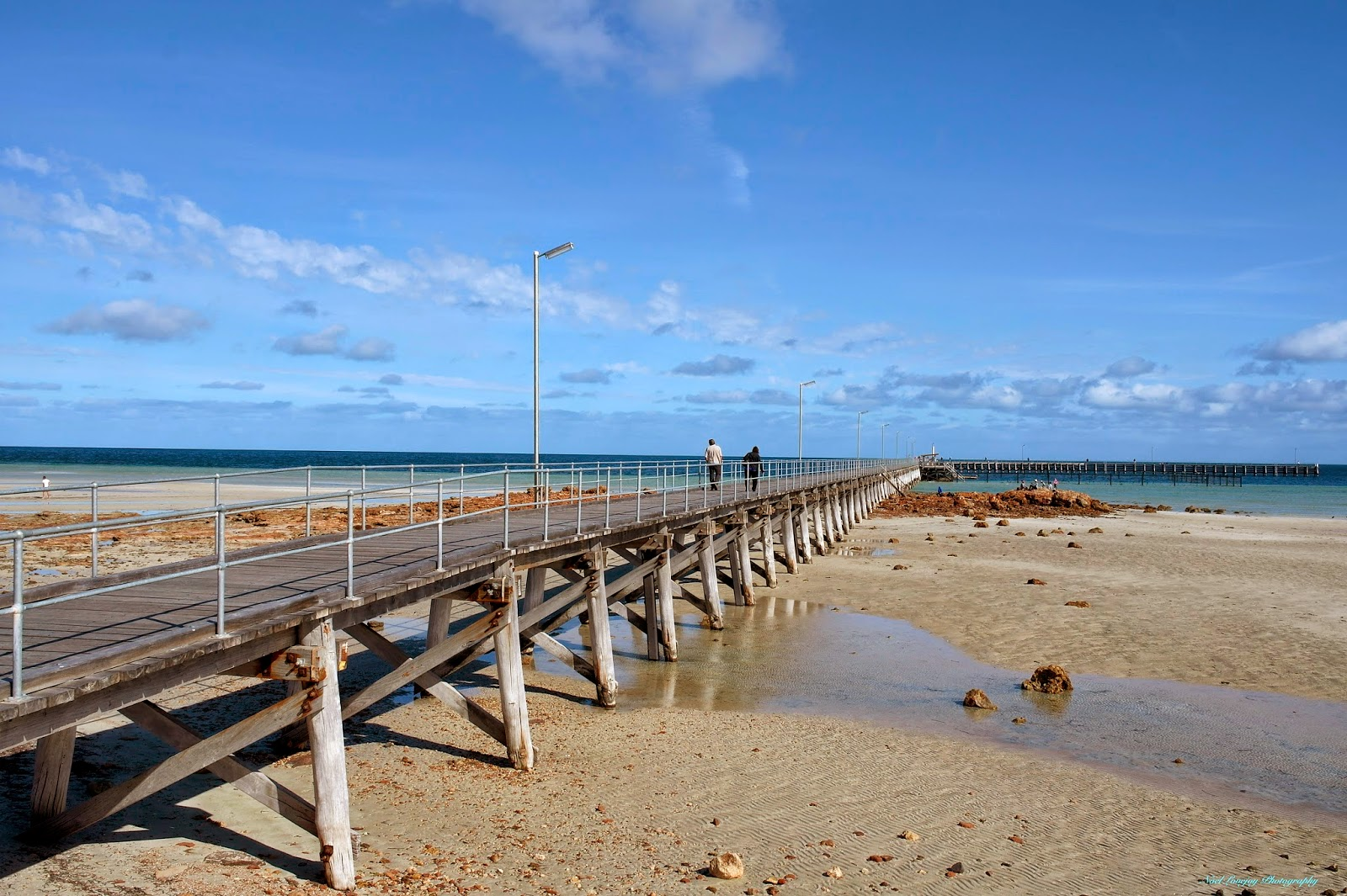Port Moonta Australia  city photos gallery : The same jetty looking over the sand flats at low tide.