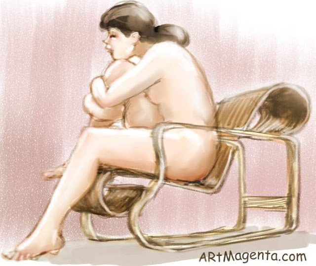 Chair 41 is a life drawing by artist and illustrator Artmagenta