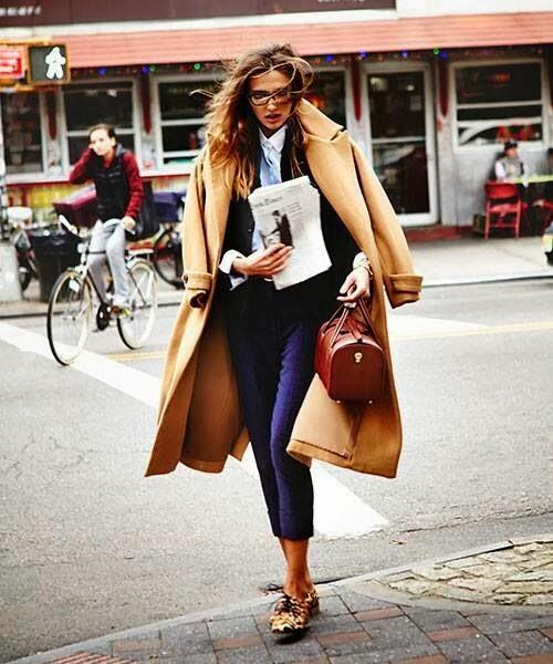 Camel Coat Trend Street Style