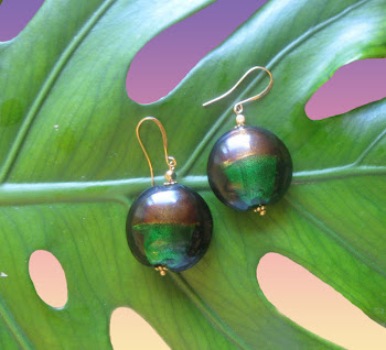 Malachite and Agate Colored Glass Dangle Drop Earrings Trendy Fashion Jewerly