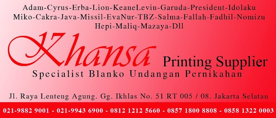 Khansa Printing & Supplier