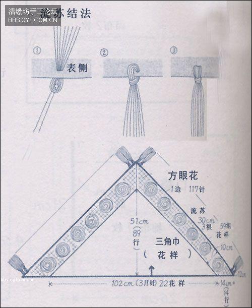 شال كروشية ... مثلث الشكل ألبسيه زي الكوفية في فترة الربيع والخريف  1b