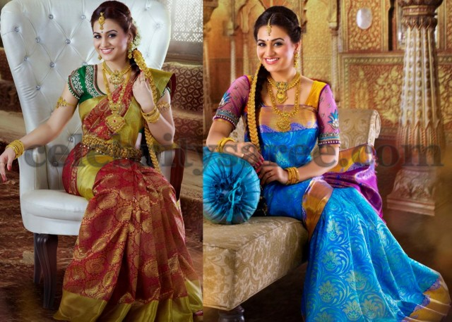 Aksha in Bridal Silk Sarees