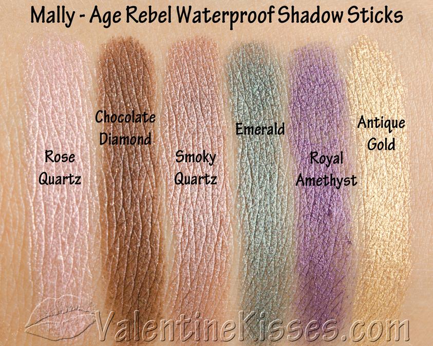 Valentine Kisses: Mally Age Rebel Waterproof Shadow Sticks - 6 ...