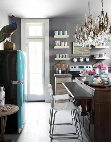 Gray Kitchen Walls Impressive Of Teal and Gray Kitchen Images