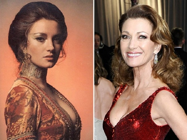 Jane Seymour young and old pictures