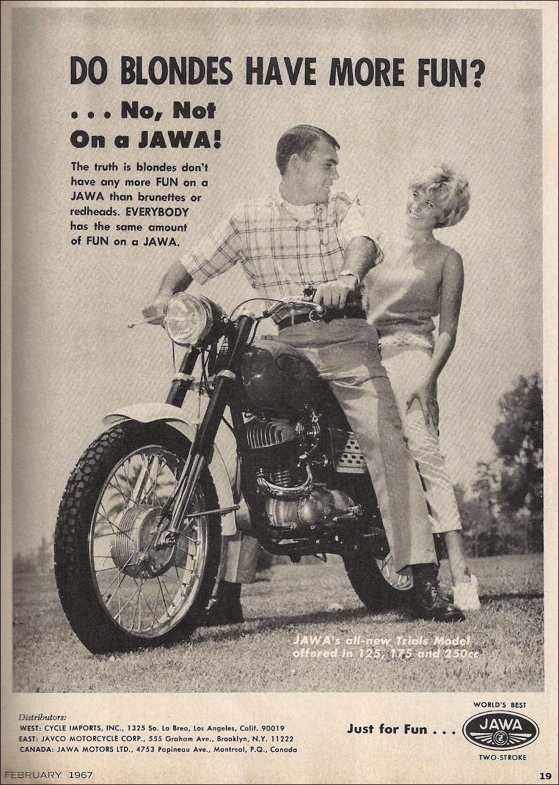 Jawa reklama z blondynką :)