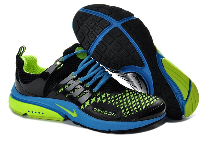 Top Design Nike Air Presto 2013 Men Blue Green Running Shoes  Nike
