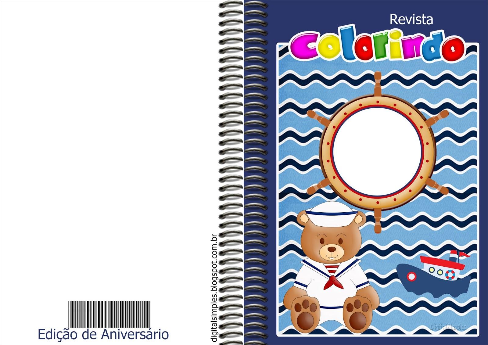 imagens para colorir ursinho marinheiro - Passatempo da Ana Kit Ursinho Marinheiro