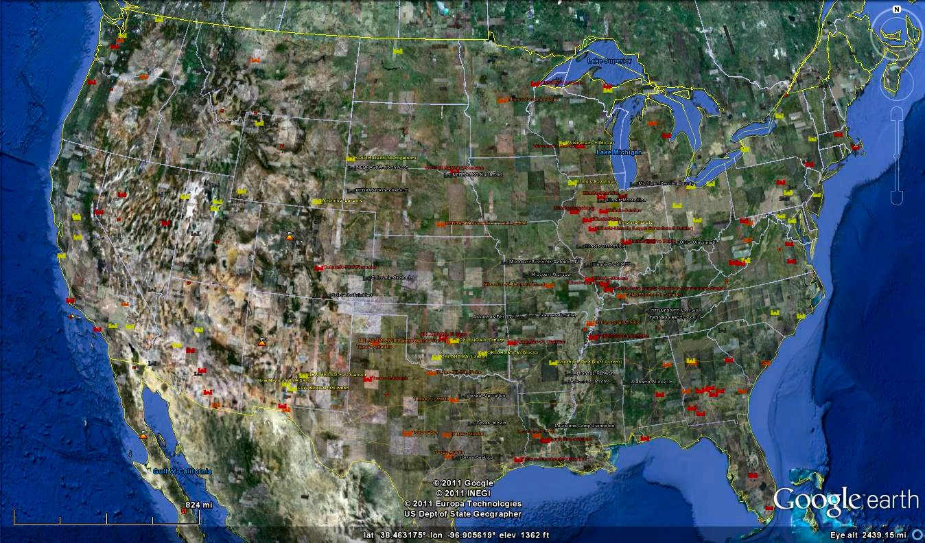 The Locations Of The FEMA InternmentConcentration Camps In The - Fema camps in the us map