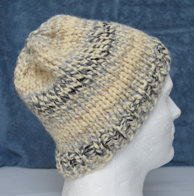 Watch Cap knit with bulky yarn for sale at https://www.etsy.com/shop/JeannieGrayKnits