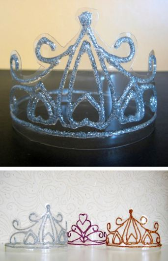 DIY Crystal Crowns or Tiaras.