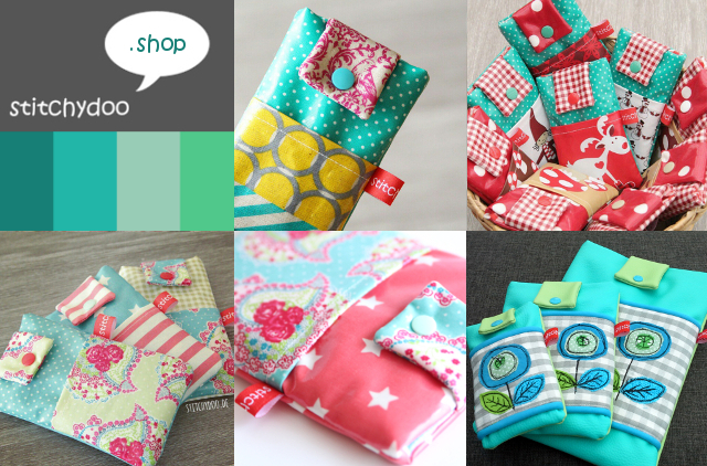 Stitchydoo-Produkte: Taschen für Handy und eReader