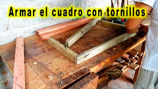 Rectángulo de madera