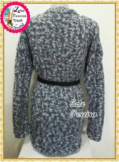 casaco em tricô feito com lã Harmonia, Casacos de tricô,