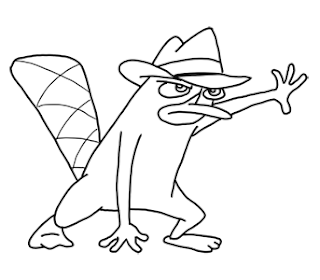 Perry Platypus coloring pages