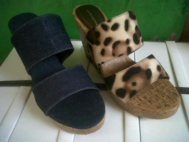 Aneka model sepatu sandal wanita murah,sandal wanita model BlueJeans & Leopard