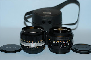 Konica 28mm f3.5 Hexar & 52mm f1.8 Hexanon lens set - Nice Mint-!