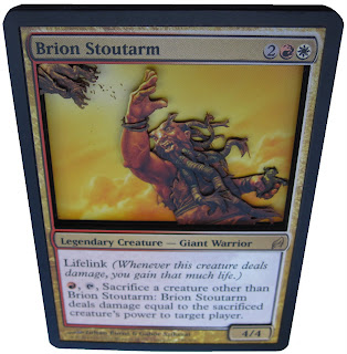 Brion Stoutarm Magic the Gathering card art mtg card artwork EDH general commander general Brion Stoutarm MTG art 3D Magic cards 3D MTG alters 3D cards  mtg art gallery