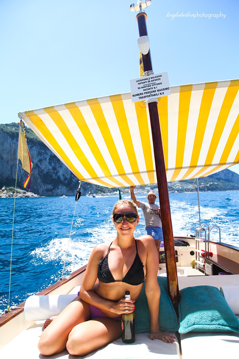 boating with capri excursions capri photo