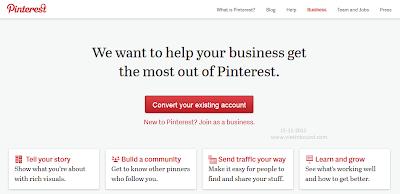 chuyển đổi tài khoản Pinterest thành trang doanh nghiệp