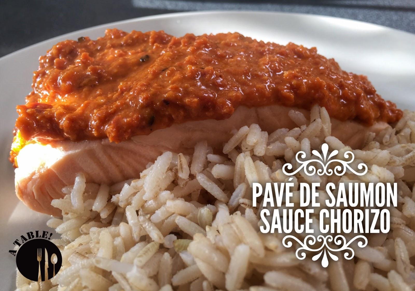 Pav de saumon sauce au chorizo blogs de cuisine - Comment cuisiner des paves de saumon ...