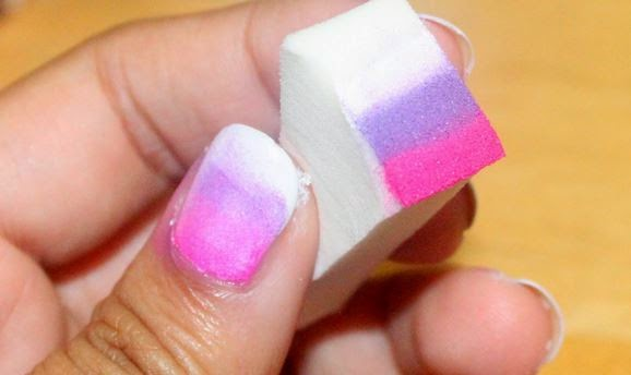 How to Make A Gradient With Nail Polish