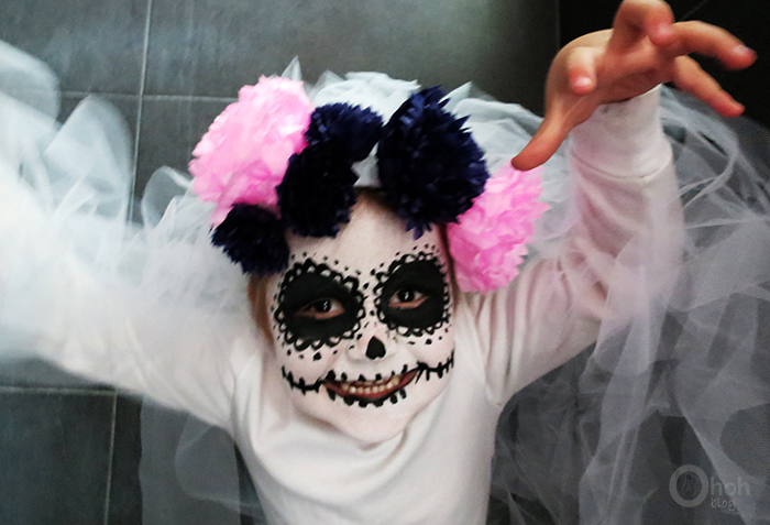 DIY Halloween costume sugar skull bride