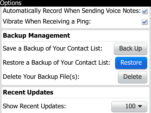 Pilih Restore using backup file from device