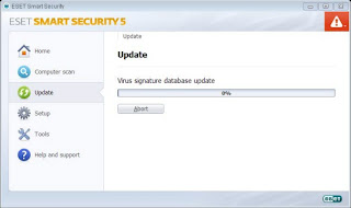 ESET SMART SECURITIES Antivirus Update - Virus signature database update