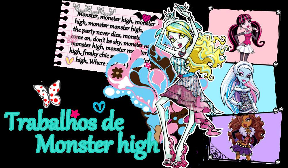 Trabalhos de Monster High