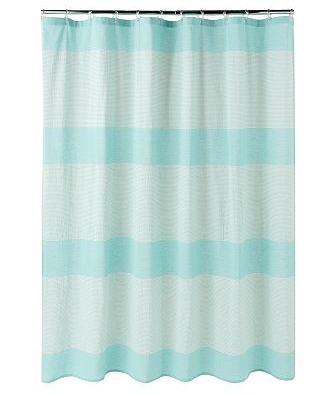 K.I.S.S. {Keep It Simple, Sister}: Striped aqua shower curtains