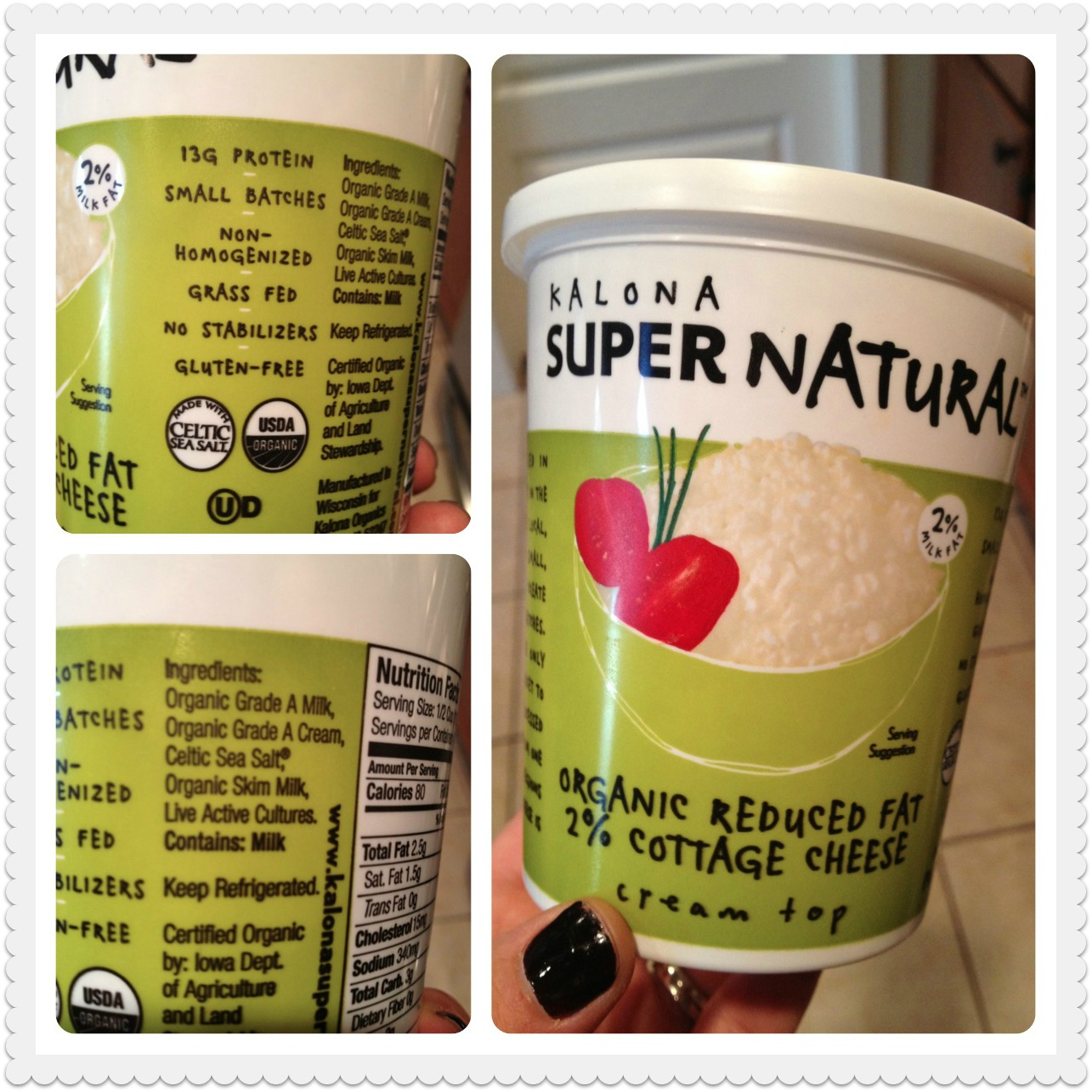 Kalona Super Natural Organic Reduced Fat  Cottage Cheese