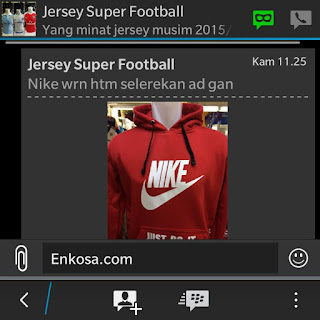 enkosa sport jual jaket hoodie nike just do it dan national geographic Jaket hoodie pesanan Desi tri Utami di enkosa sport