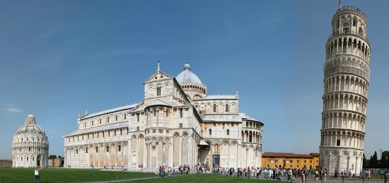 La Piazza dei miracoli di Pisa