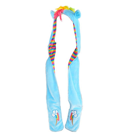 MLP Rainbow Dash Adult Costume Snood