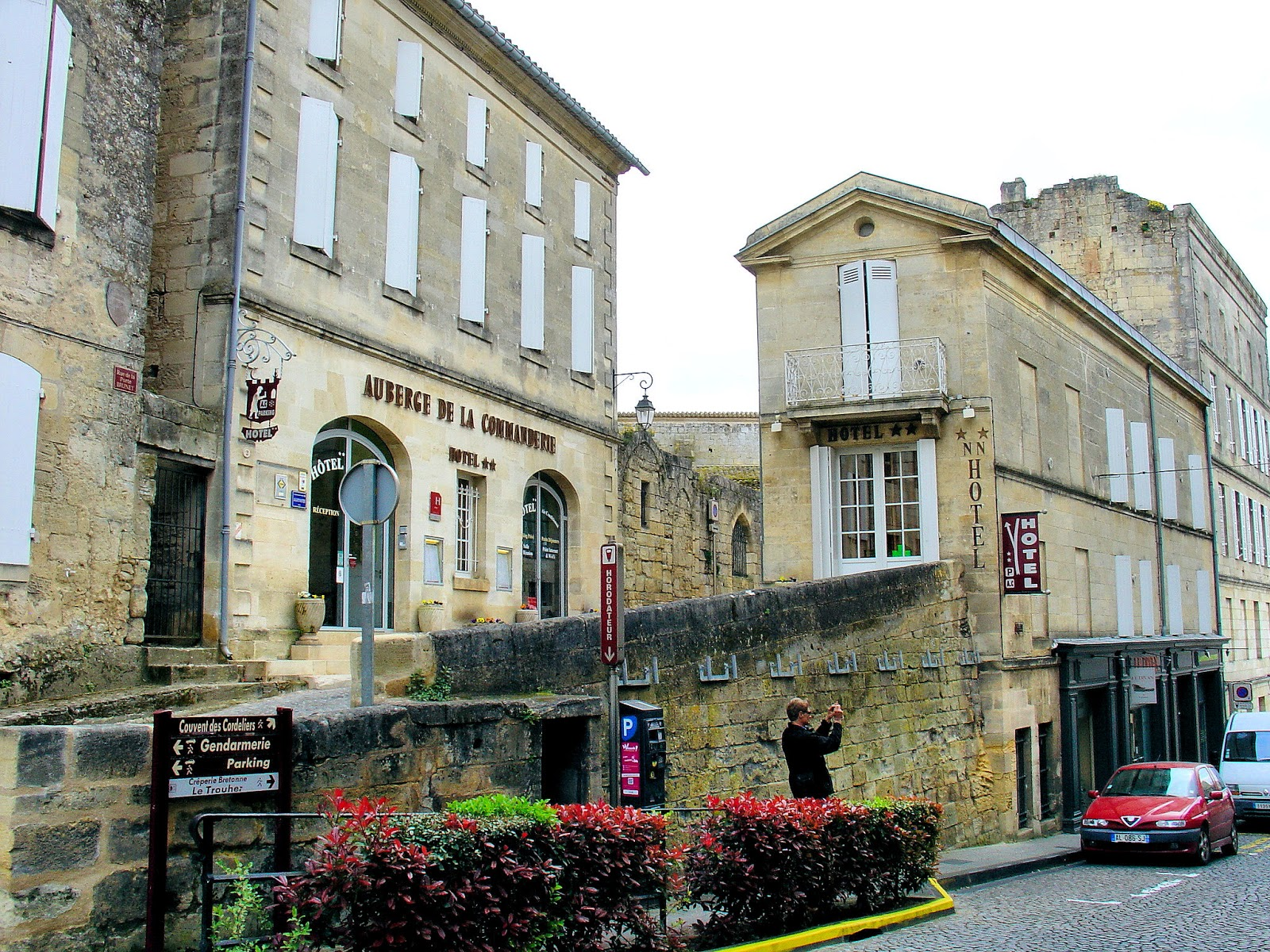 Quaint hotels line the narrow lanes of Saint-Emilion.