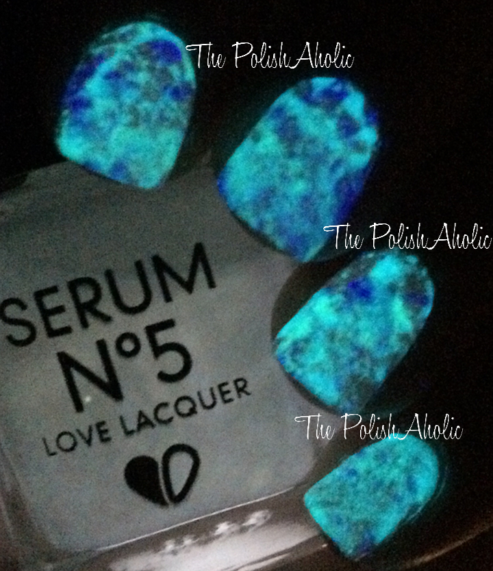 The Polishaholic Glow In The Dark Splatter Nail Art