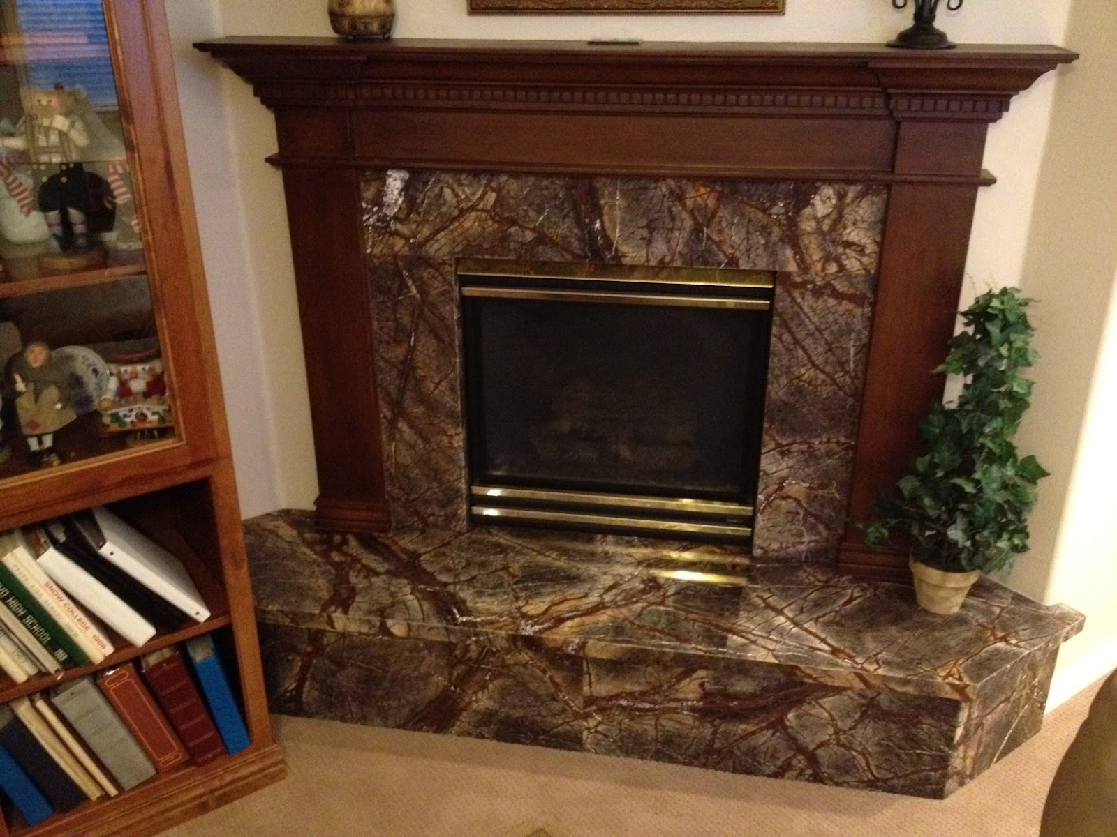 The Granite Gurus Rain Forest Brown Fireplace By Mgs By Design